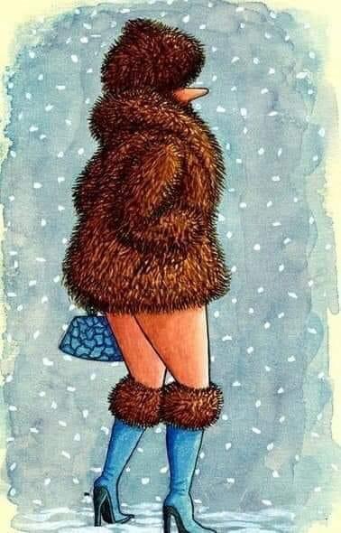 Зимой женщины делятся на два вида